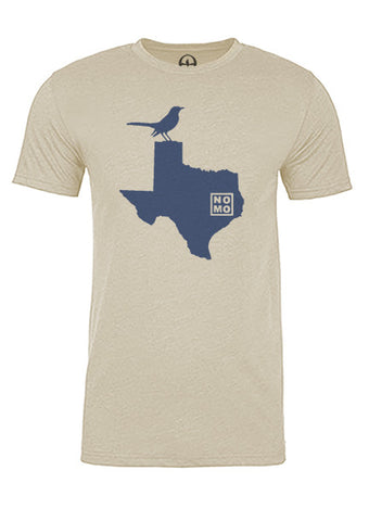 Texas State Bird Tee/Navy on Antique White -  Men's
