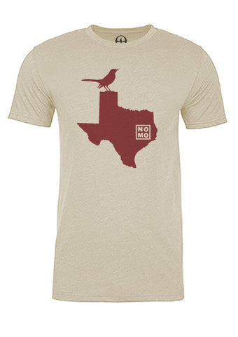 Texas State Bird Tee/Red on Antique White - Men's