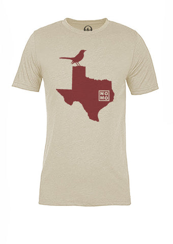 Texas State Bird Tee/Red on Antique White - Women's