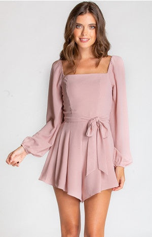 Blush Square Neck Playsuit