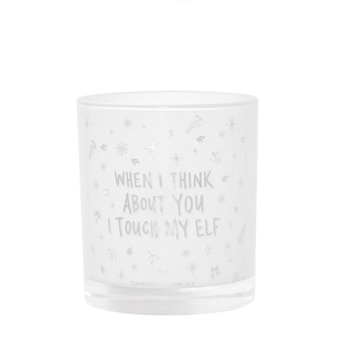 "Large Quote Candle ""When I Think About You..."" White Layla Scent"