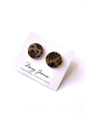 Nancy Joanna Large Leather Spider Web Studs
