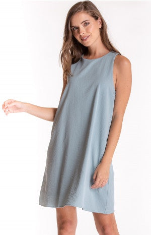 Grey/Blue A-Line Shift Dress