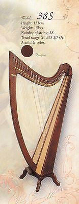 Artone 38-string Harp in Natural Color