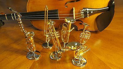 Miniature Music Instrument Decoration Gift Set (A total of 6 miniatures)