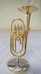Miniature Music Instrument Decoration - Gold Baritone Horn