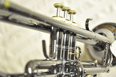 Chateau B Flat Trumpet Black Body and Lacquer Key