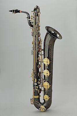 Chateau Professional Handmade Baritone Saxophone Black Lacquer VCH-1285BLY2