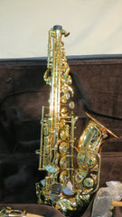 Chateau Curved Soprano Saxophone VCH-CS920LF Lacquer body Luxury Engraved Key