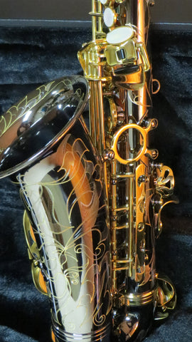 Chateau Alto Saxophone Student Model-Black body lacquer keys