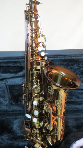 Chateau Alto Saxophone High Quality Student Model Dark Cognac Lacquer Finished Body CAS-50C
