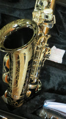 Chateau Alto Saxophone Student Model VCH-222BSY2 Black body silver key