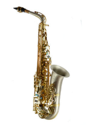 Chateau High-end Professional Alto Saxophone TYA-760 Brush finish (nickel silver) body, lacquer key