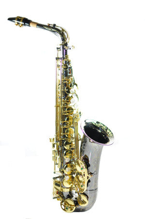 Chateau Alto Saxophone Student Model - Black body and lacquer keys
