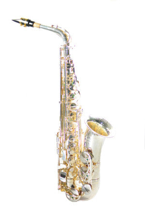Chateau Professionally handmade Alto Saxophone Silver Finish Body CAS-80S