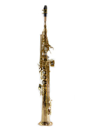 Chateau Straight Soprano Saxophone VCH-S820LY2: Lacquer finish