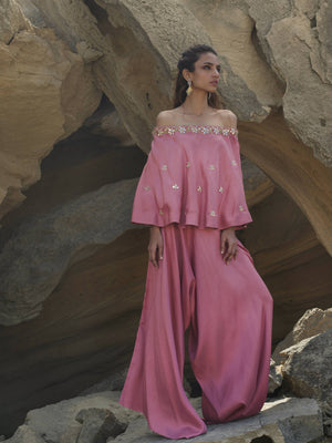 Off Shoulder Top W/ Loose Pants | Misha Lakhani