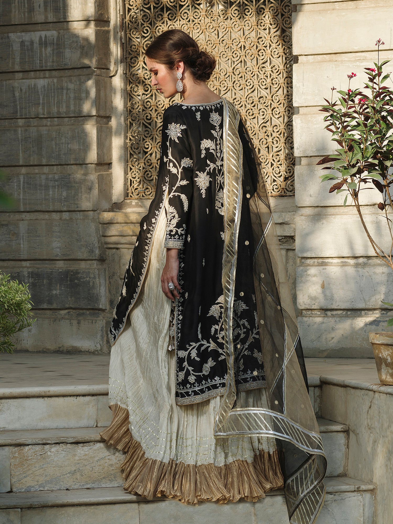 SIDE SLIT DRESS W/ DUPATTA