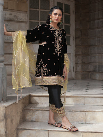 BORGIA COAT W/ CHOLI & SARI SKIRT