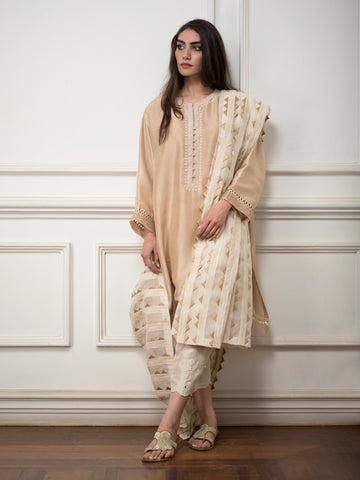 Crushed silk dupatta