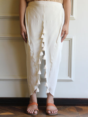 Tassel Tapered Dhoti Pant