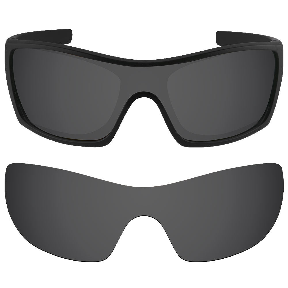 958f34bd4e ... Dynamix Replacement Lenses for Oakley Batwolf - Polarized Solid Black 1  ...