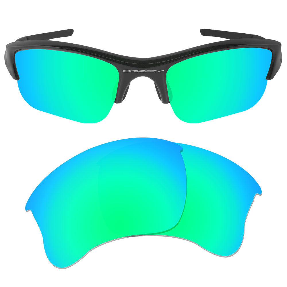 1281f47106 ... Dynamix Replacement Lenses for Oakley Flak Jacket XLJ - Polarized  Emerald Green 1 ...