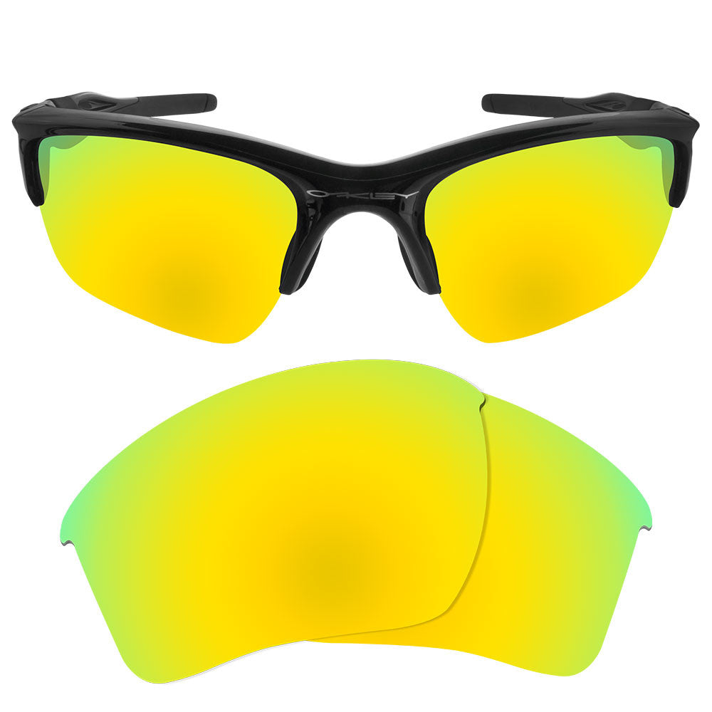 Half Jacket 2 0 >> Dynamix Polarized Replacement Lenses For Oakley Half Jacket 2 0 Xl 24k Gold Mirror