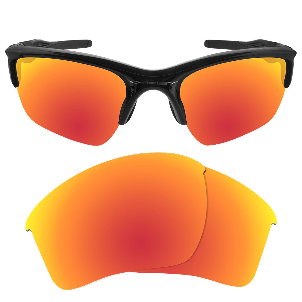 ... Dynamix Replacement Lenses for Oakley Half Jacket 2.0 XL - Polarized  Fire Red 1 ...