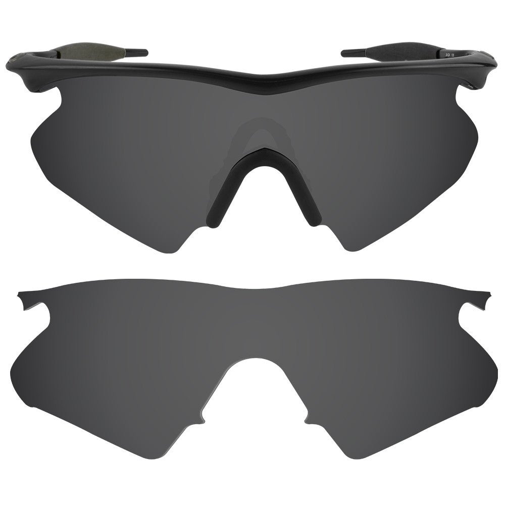 dynamix replacement lenses for oakley m frame heater polarized solid black 1