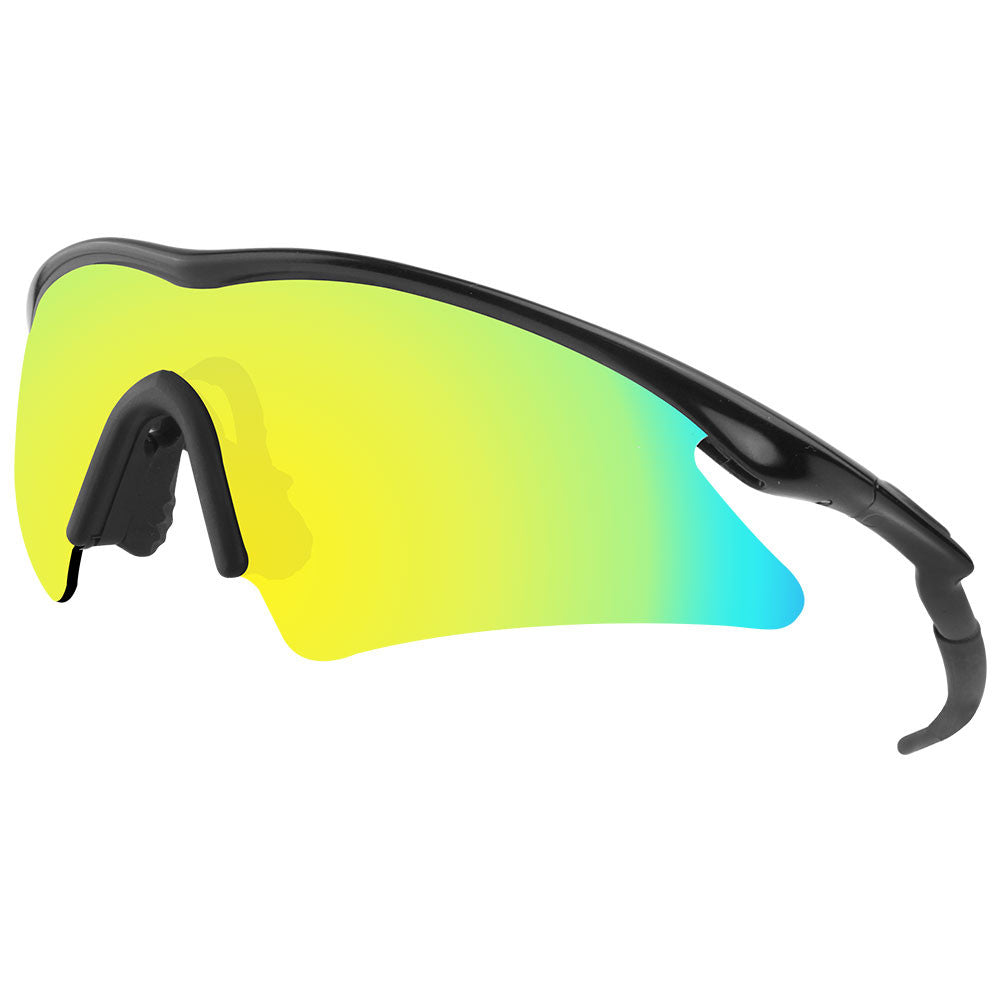 gold oakleys irfu  Dynamix Replacement Lenses for Oakley M Frame Sweep
