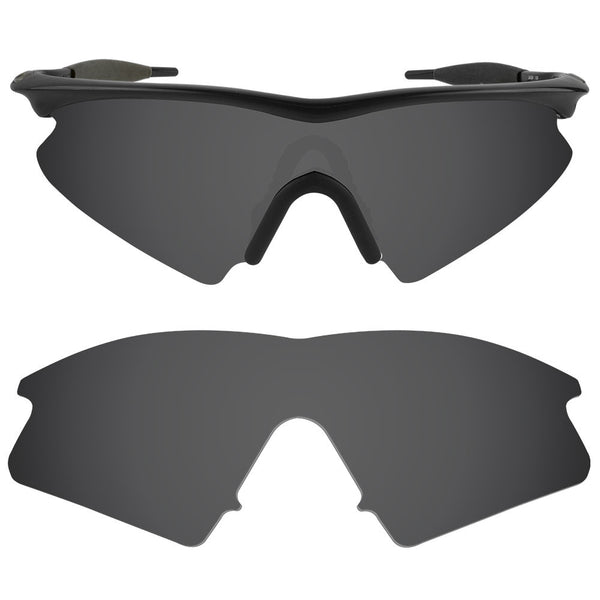 dynamix replacement lenses for oakley m frame sweep polarized solid black 1