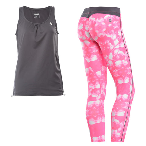 WR.UP®/SUPERFIT / Pink Jelly Print Set with Vest / Long Length / Regular Waist
