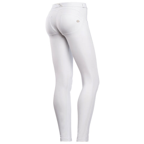 D.I.W.O.® PRO Fabric / Pure White / Cellulite Reduction / Full Length / Low Waist