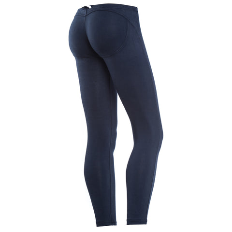 WR.UP COTTON / Basics Navy Leggings / Short Length / Low Waist