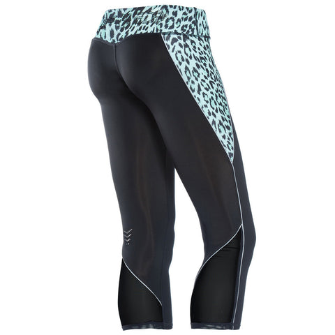 SUPERFIT / Mint Green Leopard Print / Short Length / Low Waist