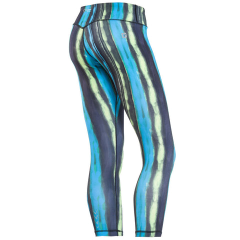 SUPERFIT / Blue Candy Striped Leggings  / Short Length / Regular Waist