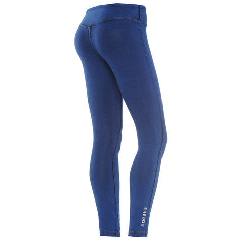 SUPERFIT / Royal Blue basic Leggings / Ankle Length - 7/8 / REGULAR Waist