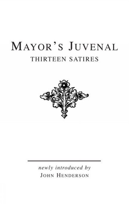 Mayor's Juvenal (Vol. II)