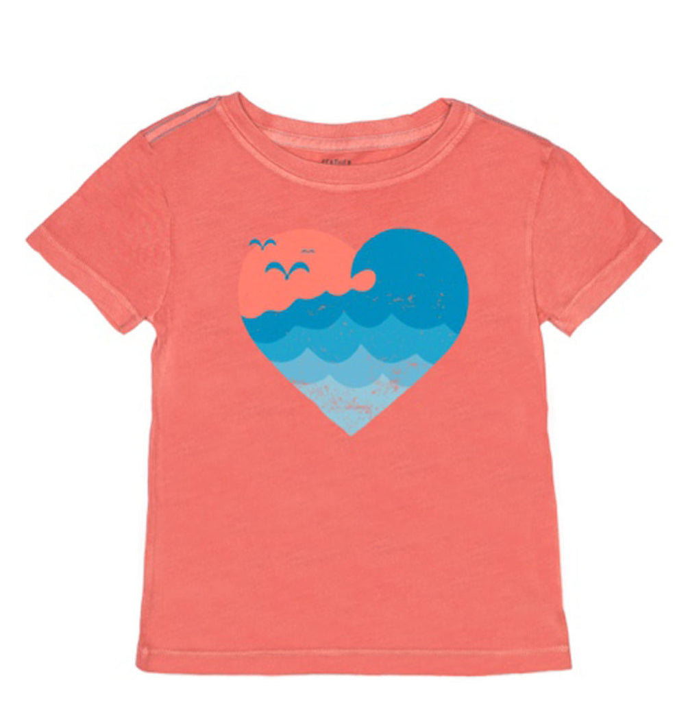 Wave Heart Tee Shirt