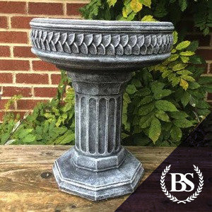 Column Bird Bath - Garden Ornament Mould | Brightstone Moulds