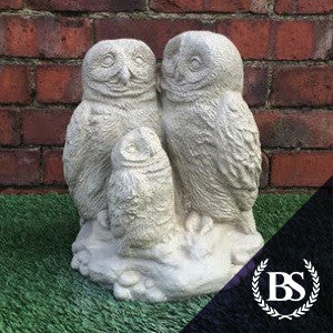 Owl Family - Garden Ornament Mould | Brightstone Moulds