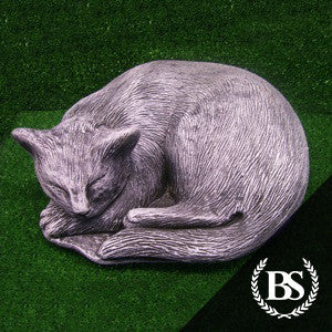 Sleeping Cat - Garden Ornament Mould | Brightstone Moulds