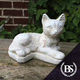 Small Laying Cat - Garden Ornament Mould | Brightstone Moulds