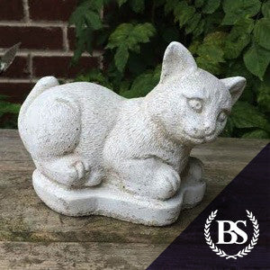 Small Cat Playing - Garden Ornament Mould | Brightstone Moulds