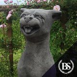 Tall Cat Hissing - Garden Ornament Mould | Brightstone Moulds