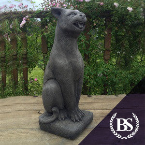 Tall Cat Hissing   Garden Ornament Mould   Brightstone Moulds