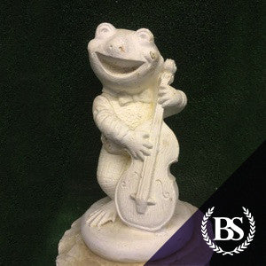 Frog Cello - Garden Ornament Mould | Brightstone Moulds