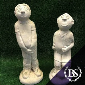 Pair of Footballers - Garden Ornament Mould | Brightstone Moulds