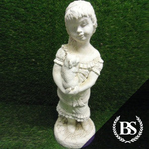Girl & Dog - Garden Ornament Mould | Brightstone Moulds